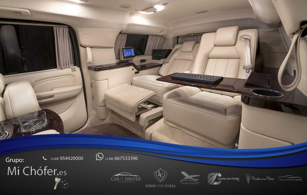 SUV con conductor. Asientos con masaje indpendientes